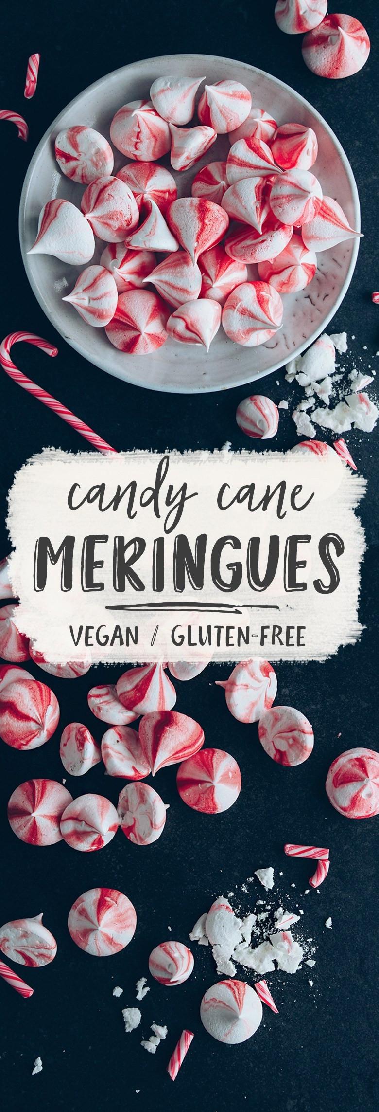 Vegan Christmas Candy  Vegan Candy Cane Meringue Kisses Wallflower Kitchen