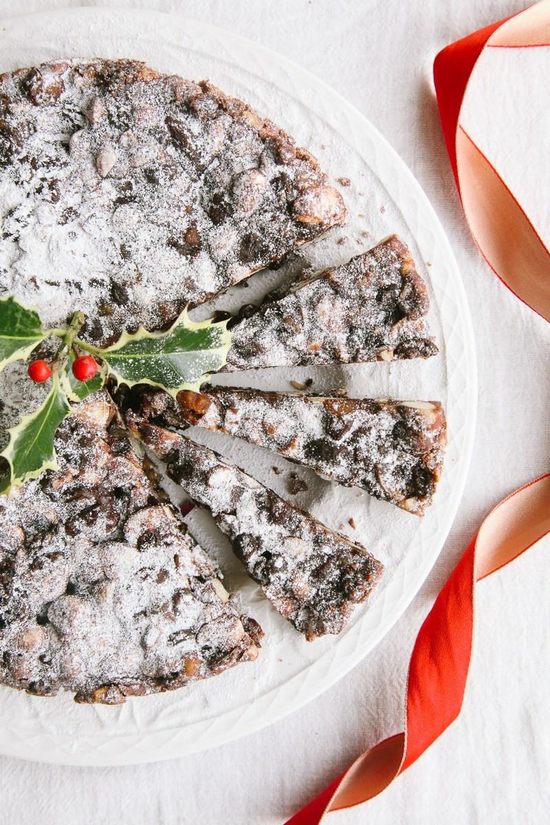 Vegan Christmas Candy  Vegan Panforte Italian Chocolate Christmas Cake