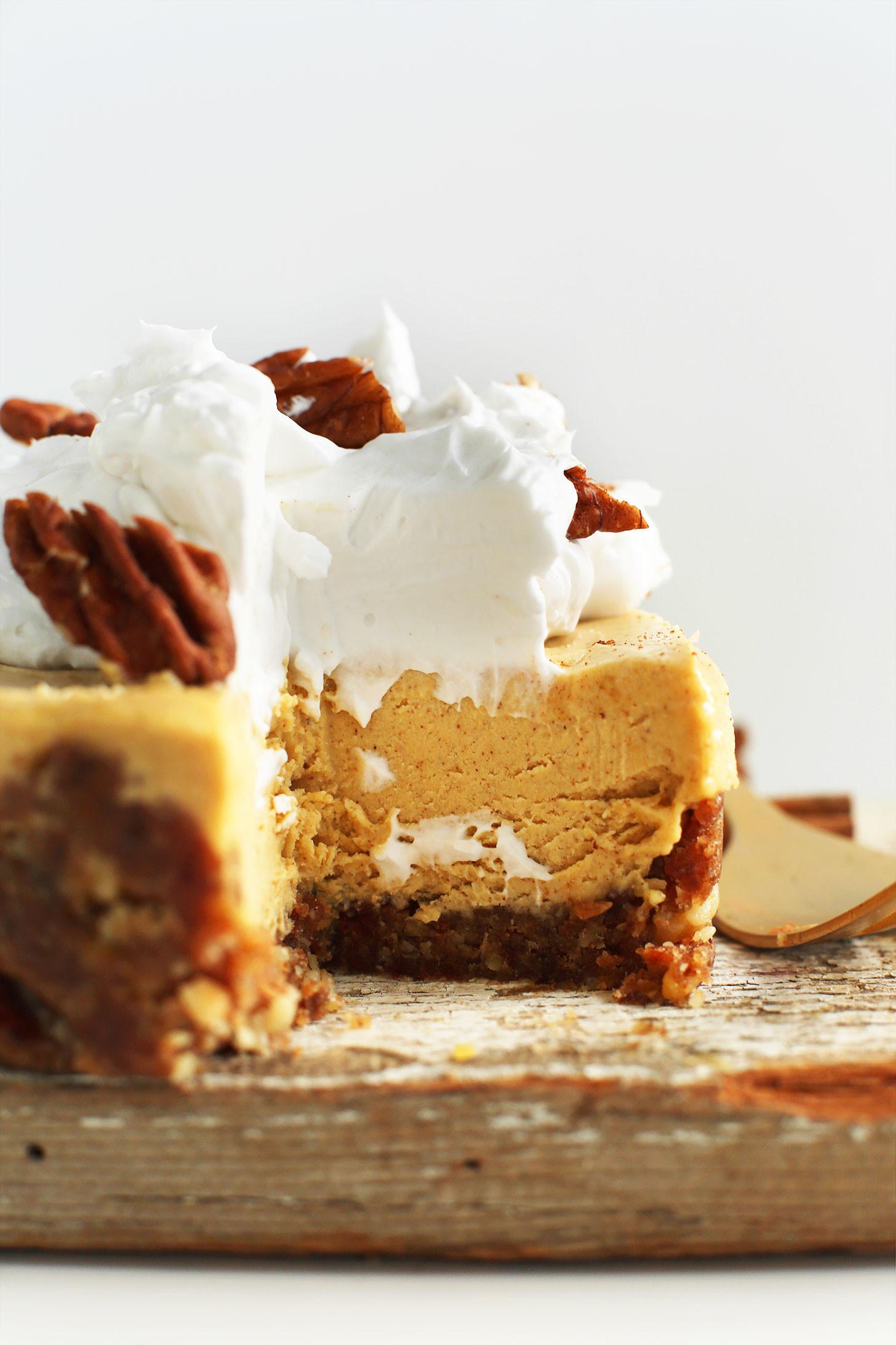 Vegan Fall Recipes  Vegan Pumpkin Cheesecake