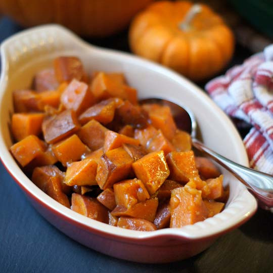 Vegan Sweet Potato Recipes Thanksgiving  Maple Glazed Sweet Potatoes Vegan