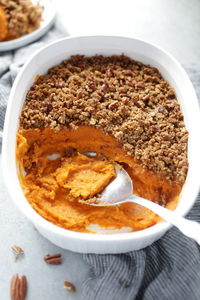 Vegan Sweet Potato Recipes Thanksgiving  Best ever vegan sweet potato casserole with pecan crumble
