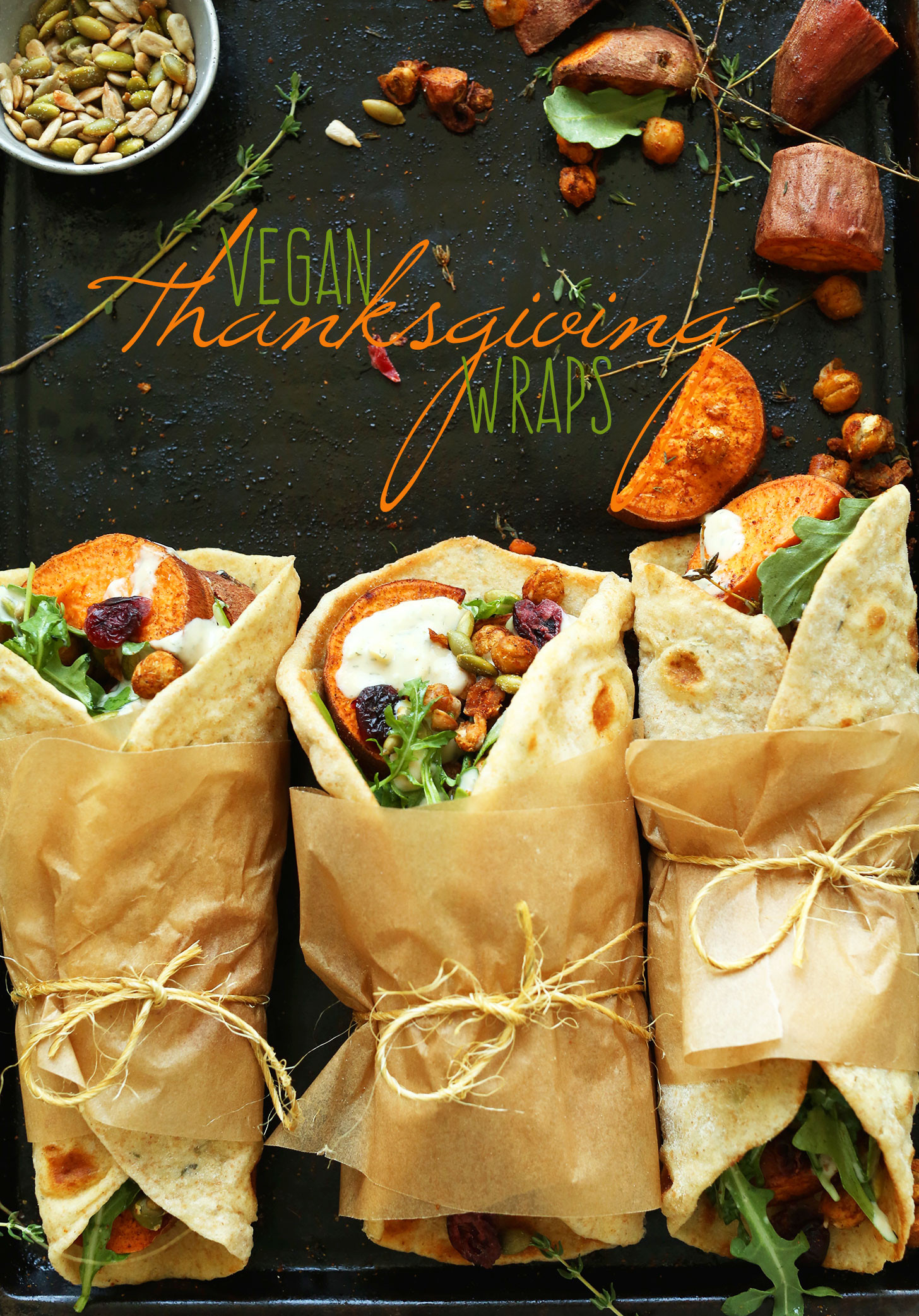 Vegan Sweet Potato Recipes Thanksgiving  Vegan Thanksgiving Wraps