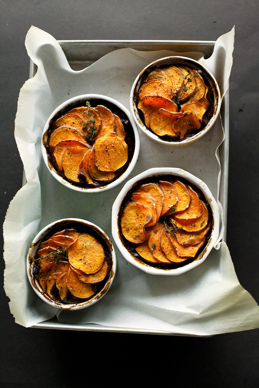 Vegan Sweet Potato Recipes Thanksgiving  MUSHROOM & STOUT POT PIES WITH SWEET POTATO CRUSTS The