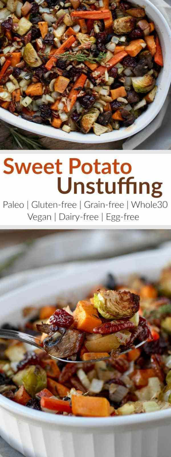 Vegan Sweet Potato Recipes Thanksgiving  Sweet Potato Unstuffing The Real Food Dietitians
