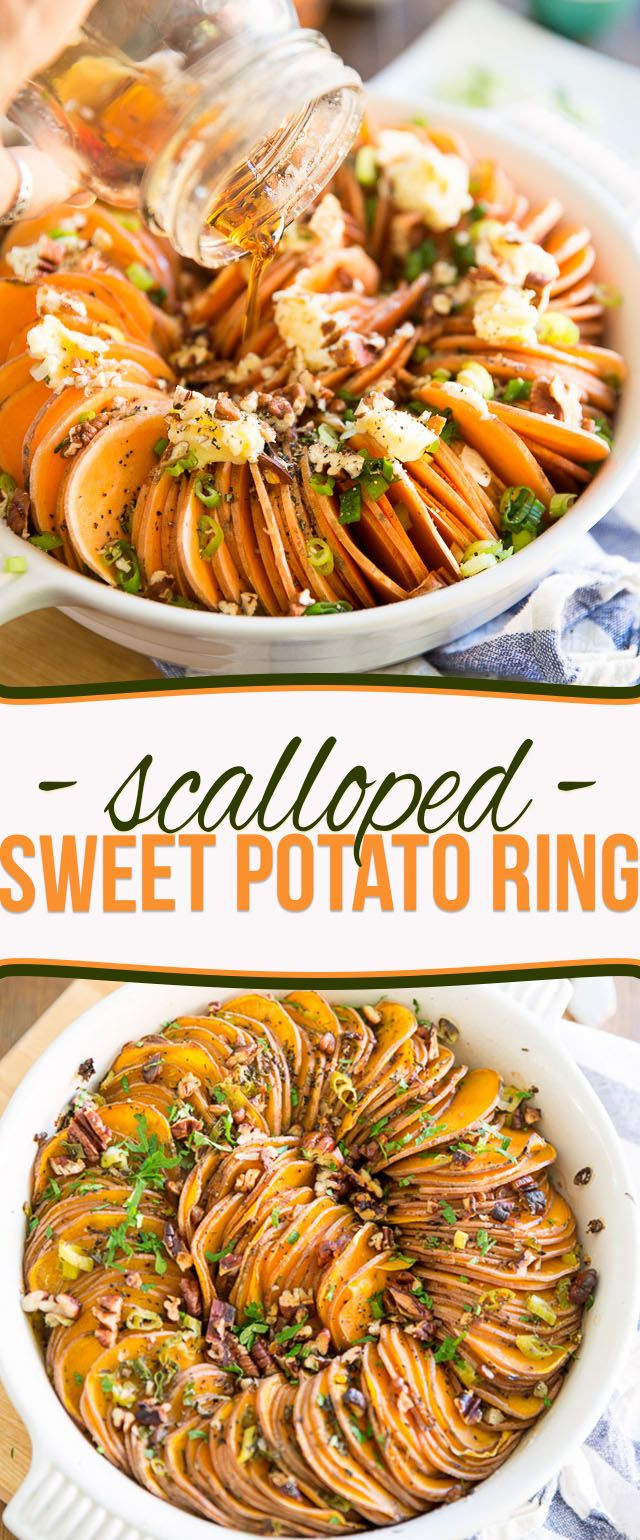Vegan Sweet Potato Recipes Thanksgiving  Scalloped Sweet Potato Ring Recipe