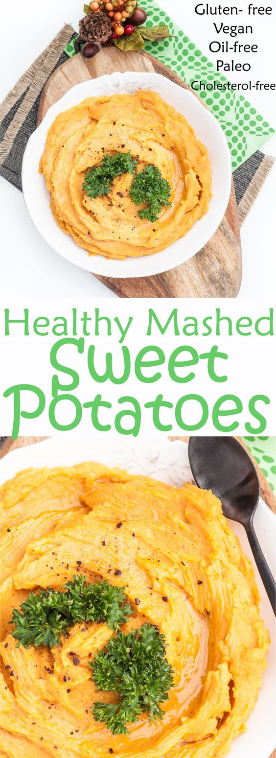Vegan Sweet Potato Recipes Thanksgiving  Healthy mashed sweet potatoes Thanksgiving sides and