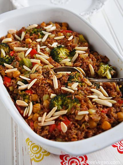 Vegan Thanksgiving Casserole  Creamy Vegan Broccoli and Rice Casserole