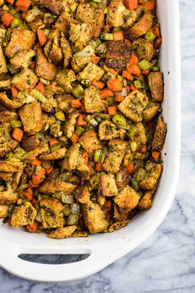 Vegan Thanksgiving Dressing  Easy Vegan Stuffing Recipe Build Your Bite