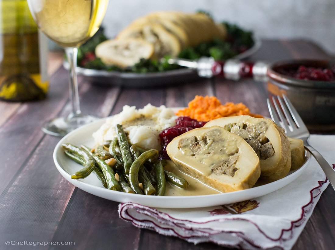 Vegan Turkey For Thanksgiving  Vegan Turkey Roll Cheftographer