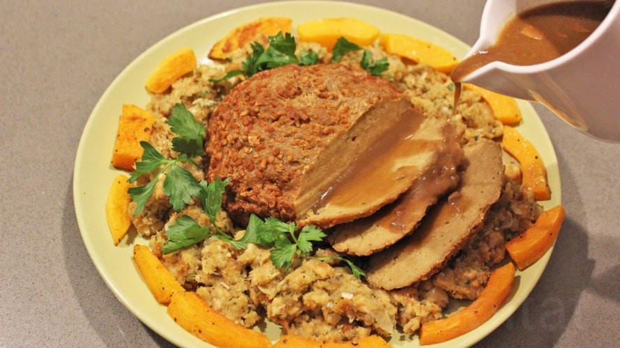 Vegan Turkey Thanksgiving  Make your own tasty ve arian turkey for Thanksgiving