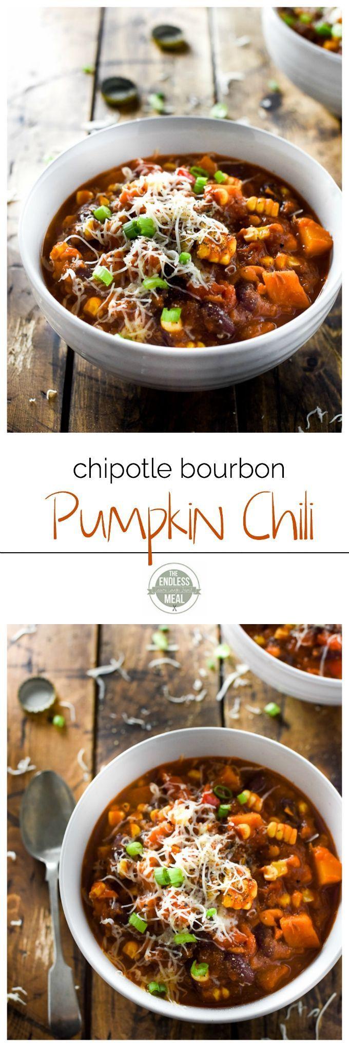 Vegetarian Fall Dinner Recipes  1000 ideas about Pumpkin Chili on Pinterest