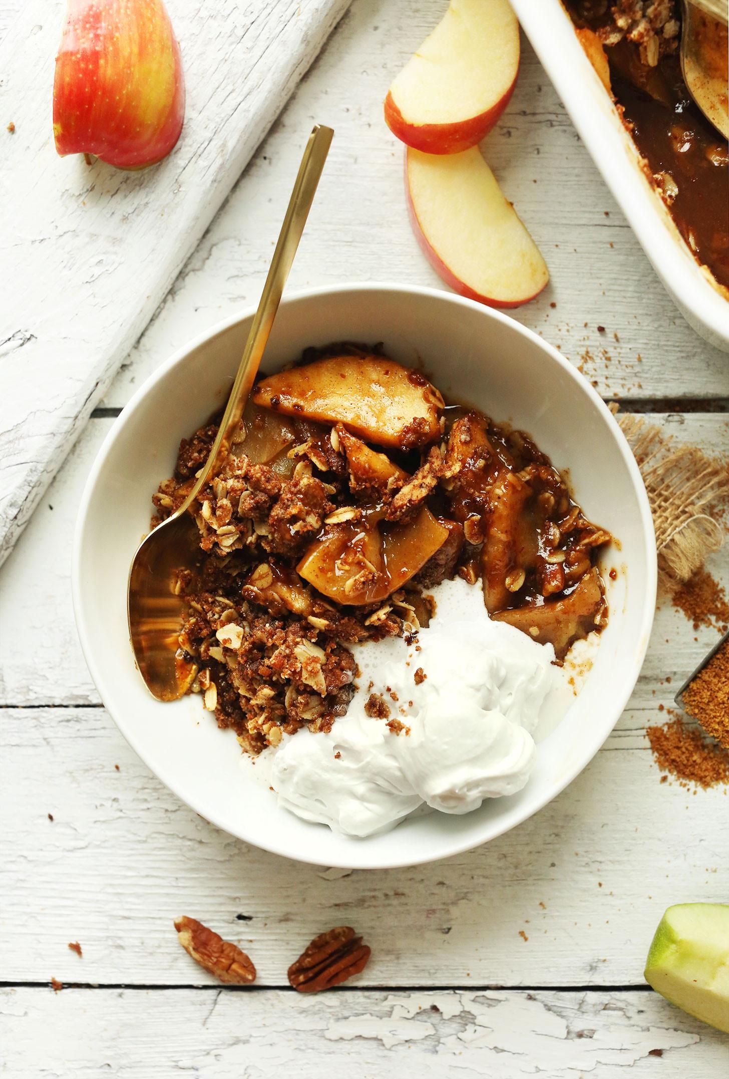 Vegetarian Fall Recipes  Best Vegan Apple Crisp