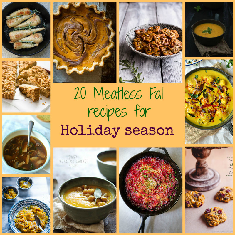 Vegetarian Fall Recipes  The Veggie Indian Healthy Ve arian Mostly Indian