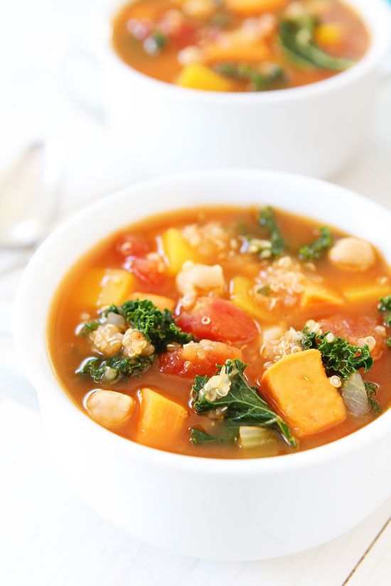 Vegetarian Fall Soup Recipes  Fall Ve able Quinoa Soup Recipe