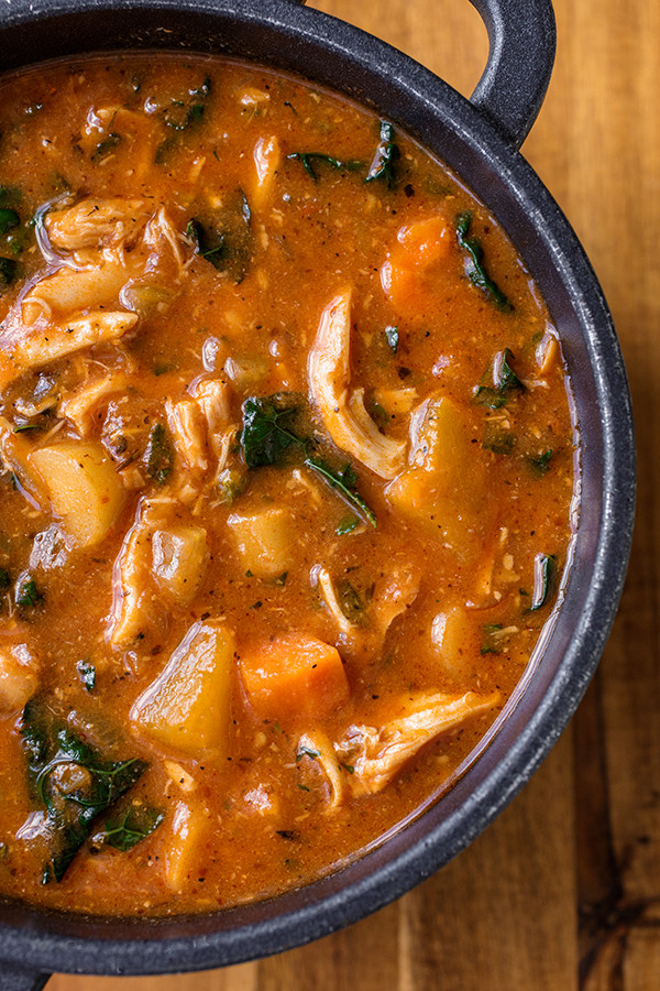 Vegetarian Fall Soup Recipes  Hearty Italian Chicken and Autumn Veggie Soup
