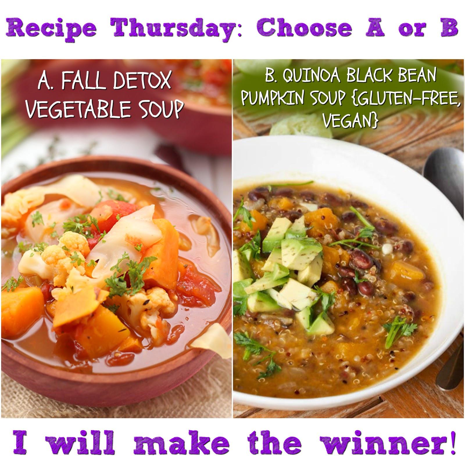 Vegetarian Fall Soup Recipes  Recipe Thursday Fall Detox Ve able Soup