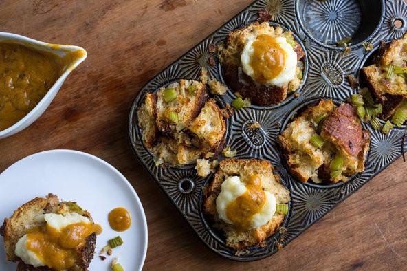Vegetarian Stuffing Recipes Thanksgiving  Ve arian Thanksgiving Stuffing Muffins The New York Times