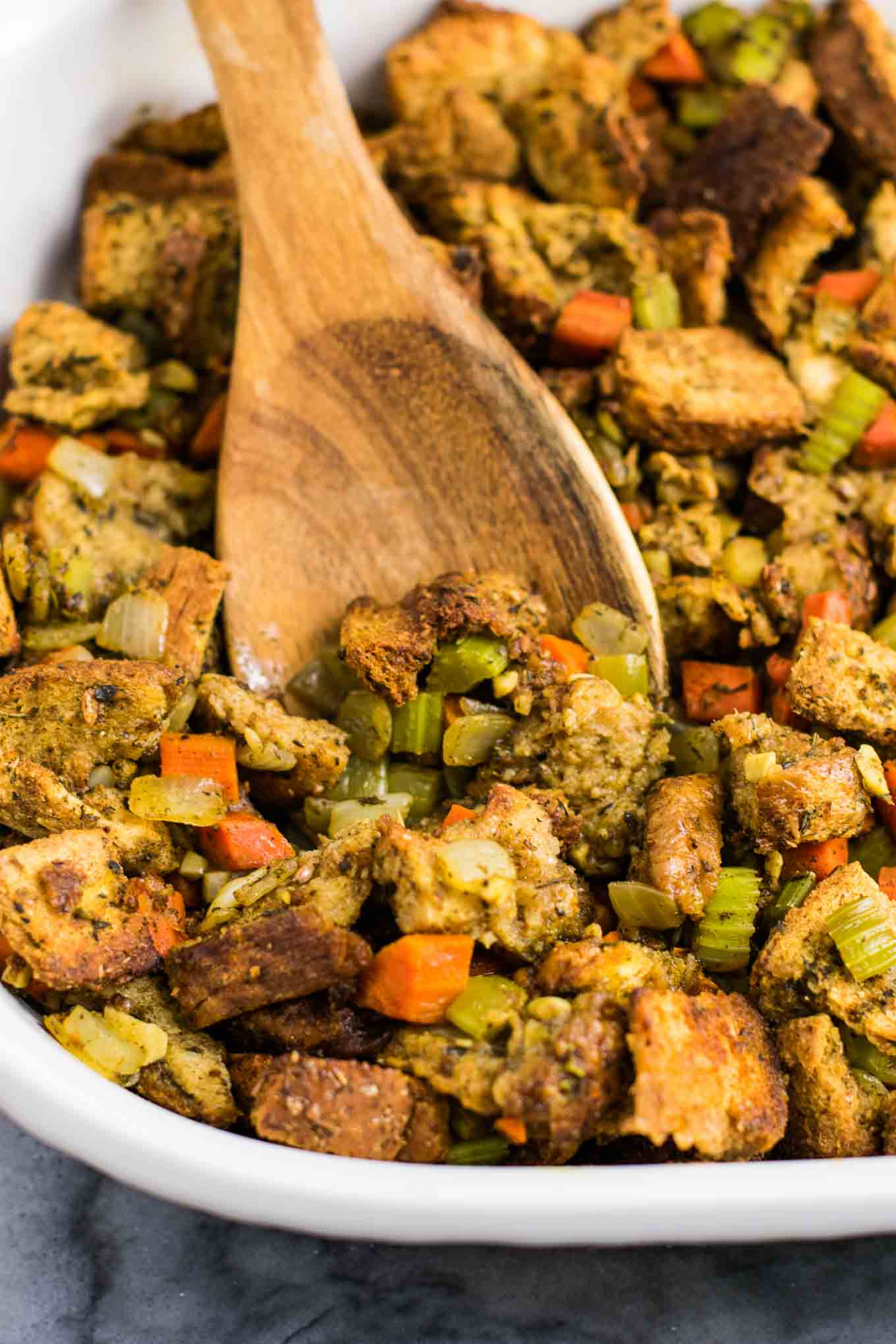 Vegetarian Stuffing Recipes Thanksgiving  The Best Easy Vegan Stuffing Recipe Build Your Bite