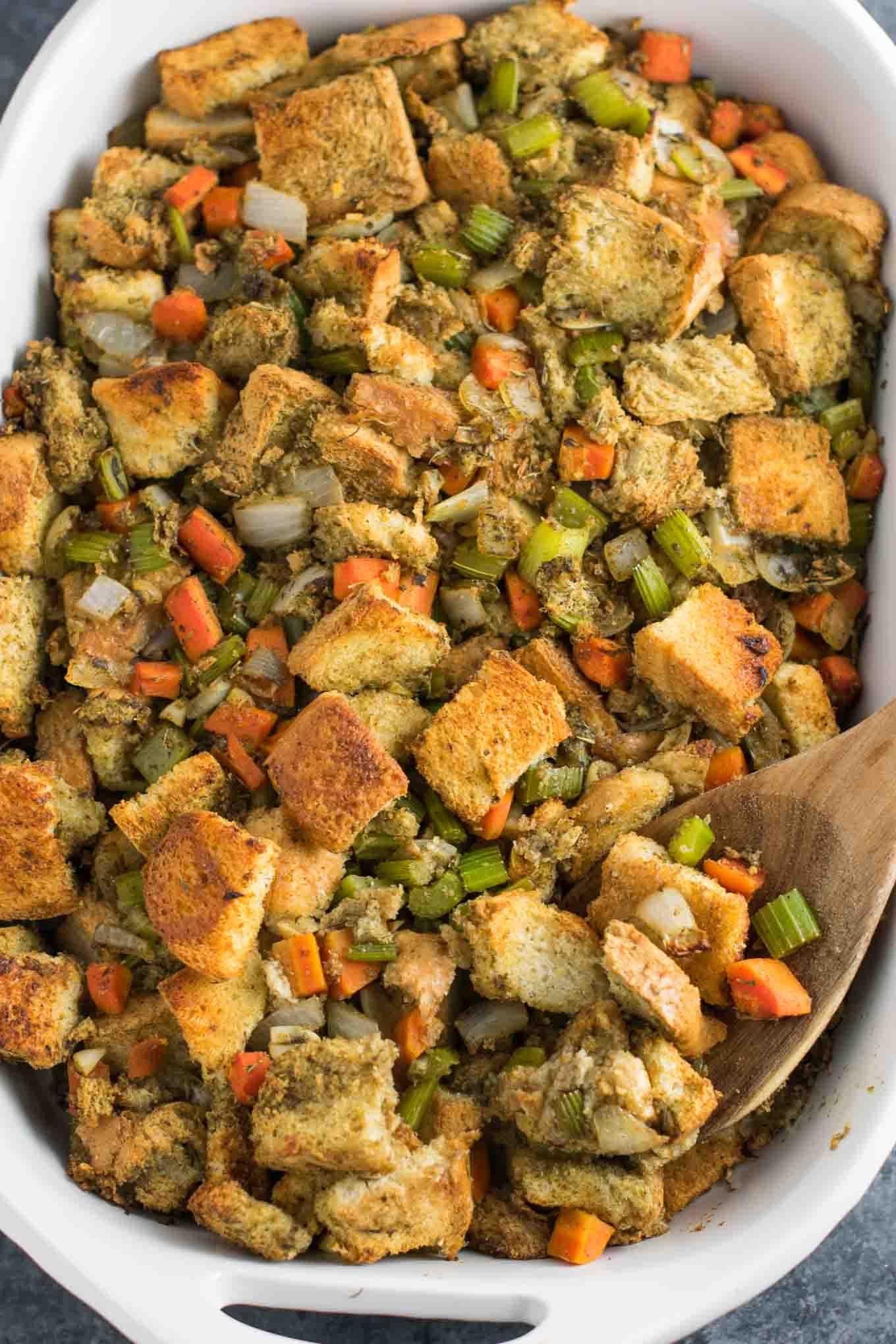 Vegetarian Stuffing Recipes Thanksgiving  Easy Vegan Stuffing Recipe gluten free dairy free
