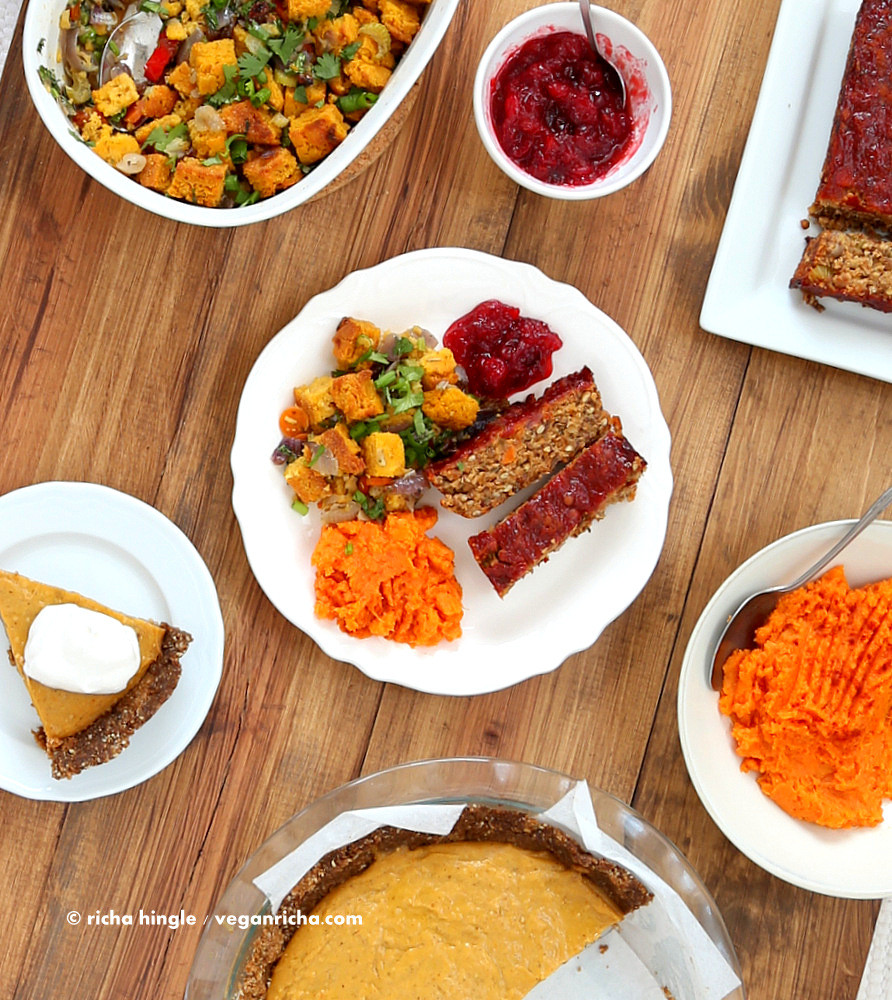 Vegetarian Thanksgiving Loaf  Vegan Lentil Quinoa Loaf Vegan Richa