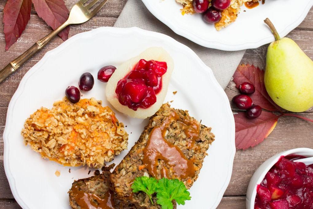 Vegetarian Thanksgiving Loaf  Vegan Thanksgiving Lentil Loaf Vegan Heaven