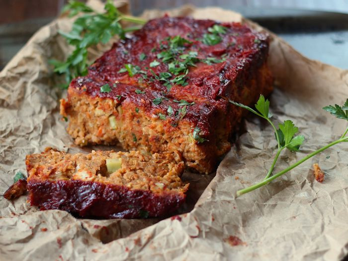 Vegetarian Thanksgiving Loaf  Chickpea Vegan Meatloaf Connoisseurus Veg