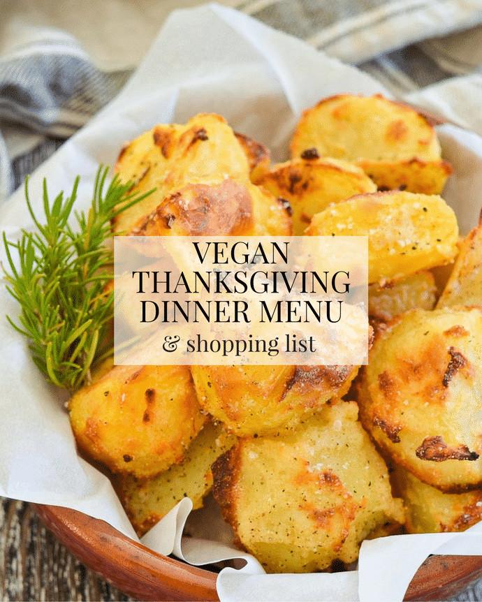 Vegetarian Thanksgiving Meal  Vegan Thanksgiving Dinner Menu & Shopping List A Virtual