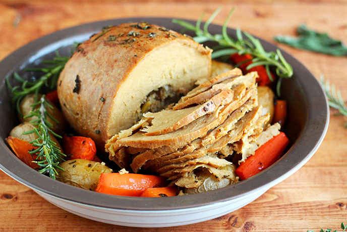 Vegetarian Thanksgiving Turkey  How to Cook a Tofurky Roast I LOVE VEGAN