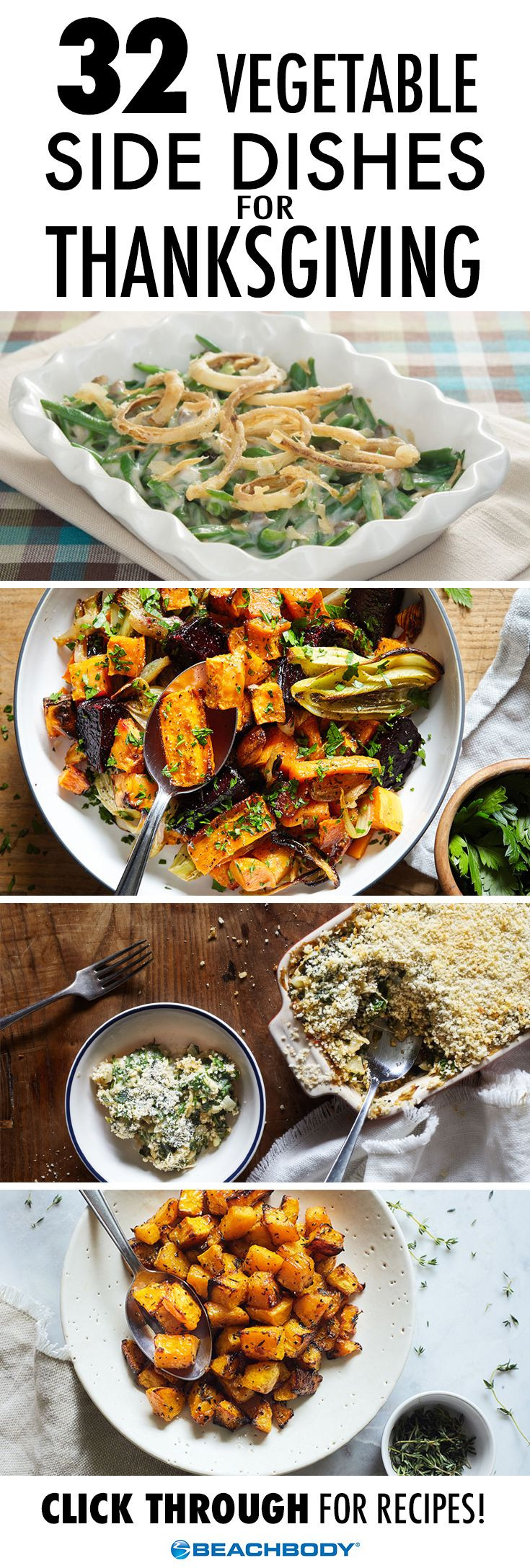 Veggie Side Dishes For Thanksgiving  837 best images about Healthy Recipes on Pinterest