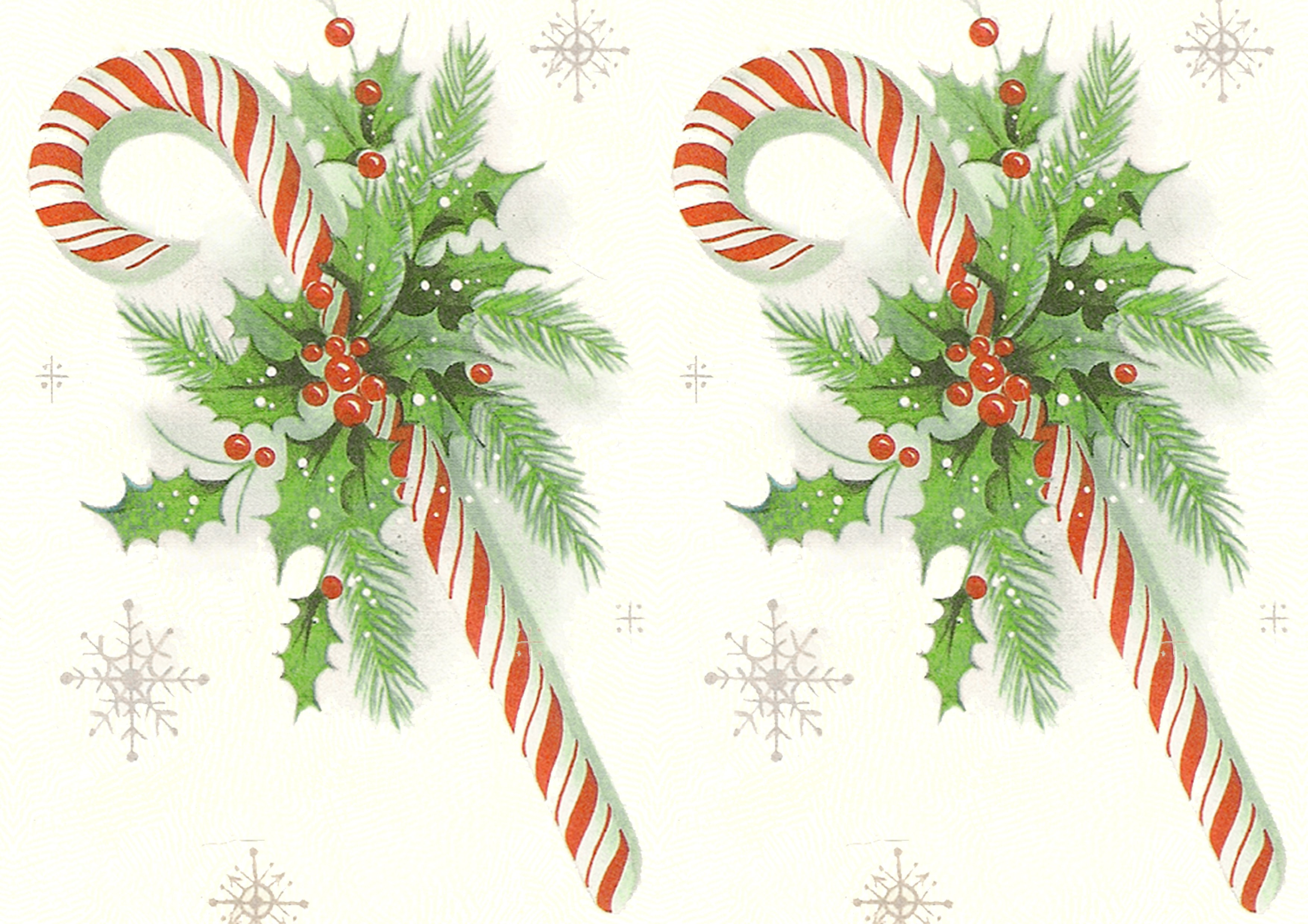 Vintage Christmas Candy  Retro Candy Cane – Seamless tile and printable papers