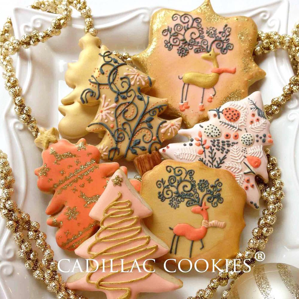 Vintage Christmas Cookies  Glittery vintage Christmas
