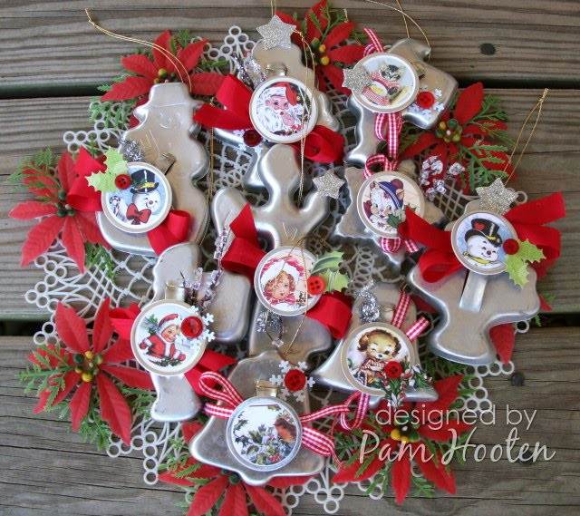 Vintage Christmas Cookies  Iris Garden Vintage Christmas Cookie Cutter Ornaments