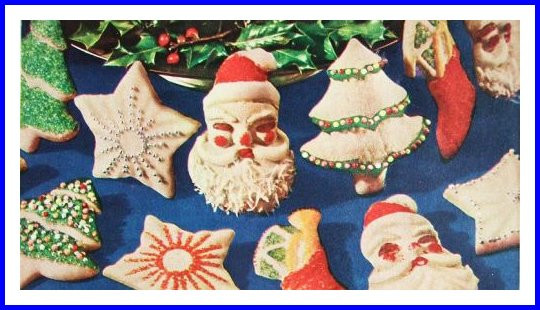 Vintage Christmas Cookies  Christmas