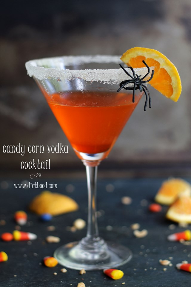 Vodka Halloween Drinks  Candy Corn Vodka Cocktail Recipe A Night Owl Blog