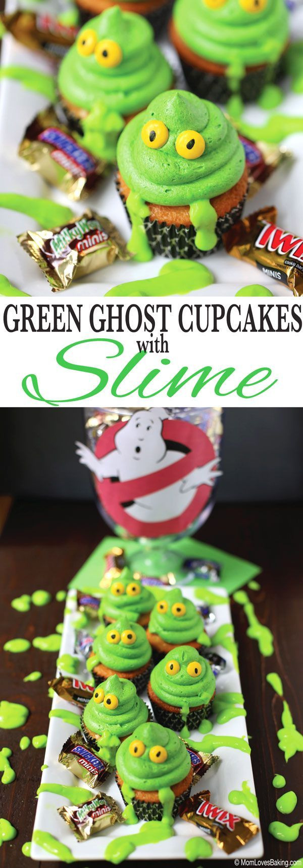 Walmart Halloween Cupcakes  Green Ghost Cupcakes with Slime Recipe