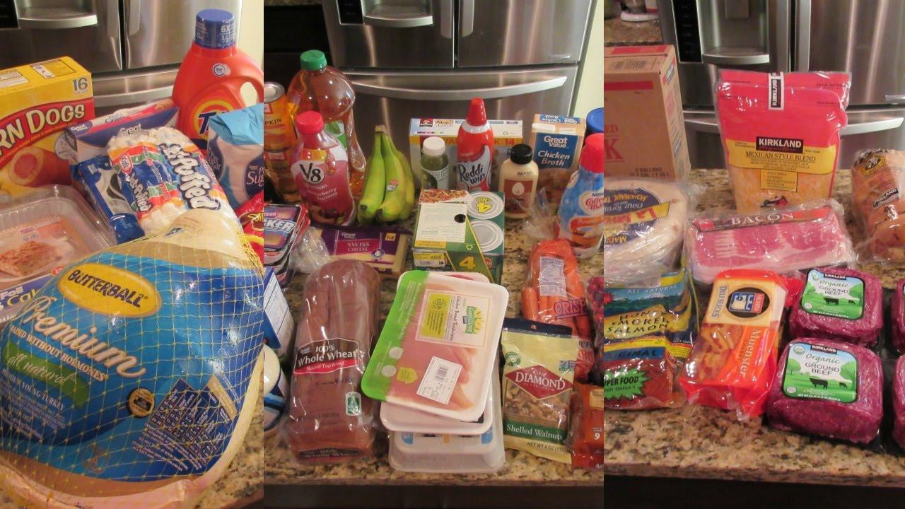 Walmart Thanksgiving Dinners Prepared  Huge Grocery Haul Walmart and Costco Thanksgiving Dinner