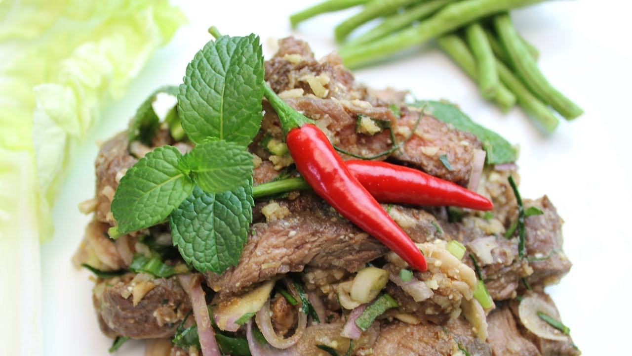 Waterfall Beef Salad  Nam Tok Neua or Thai Waterfall Beef Salad