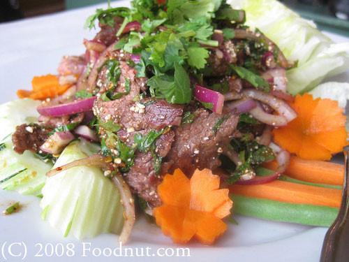 Waterfall Beef Salad  Neua Yang Nam Tok เนื้อย่างน้ำตก Waterfall Beef Salad