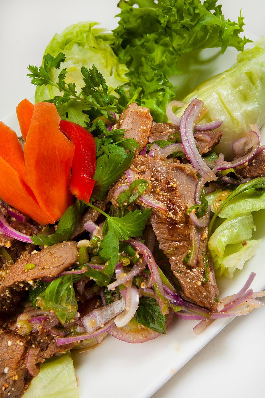 Waterfall Beef Salad  basilthaibistro