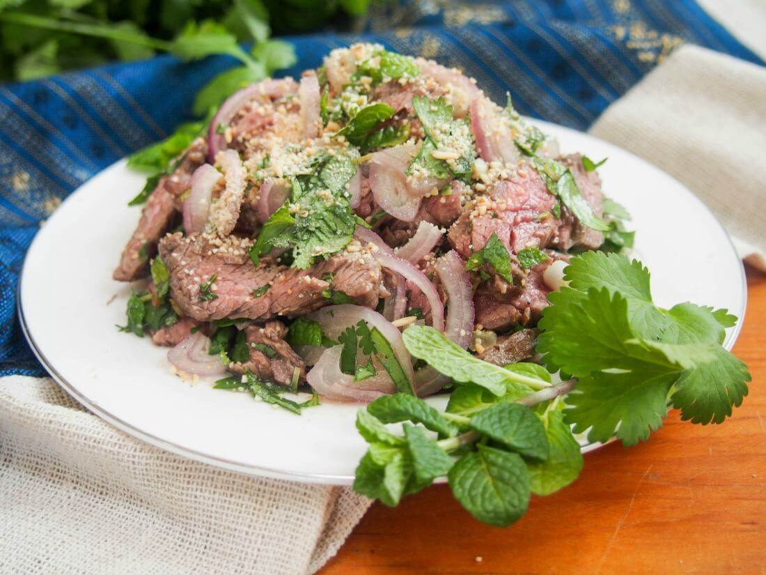 Waterfall Beef Salad  Thai beef salad Nam Tok waterfall beef Caroline s