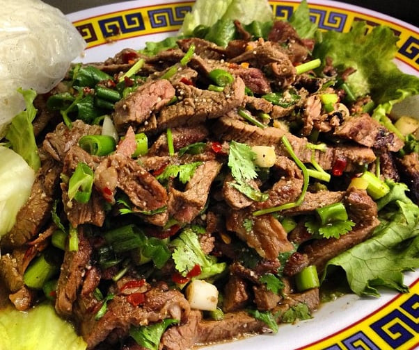 Waterfall Beef Salad  Waterfall beef salad Nam tok with sticky rice Yelp