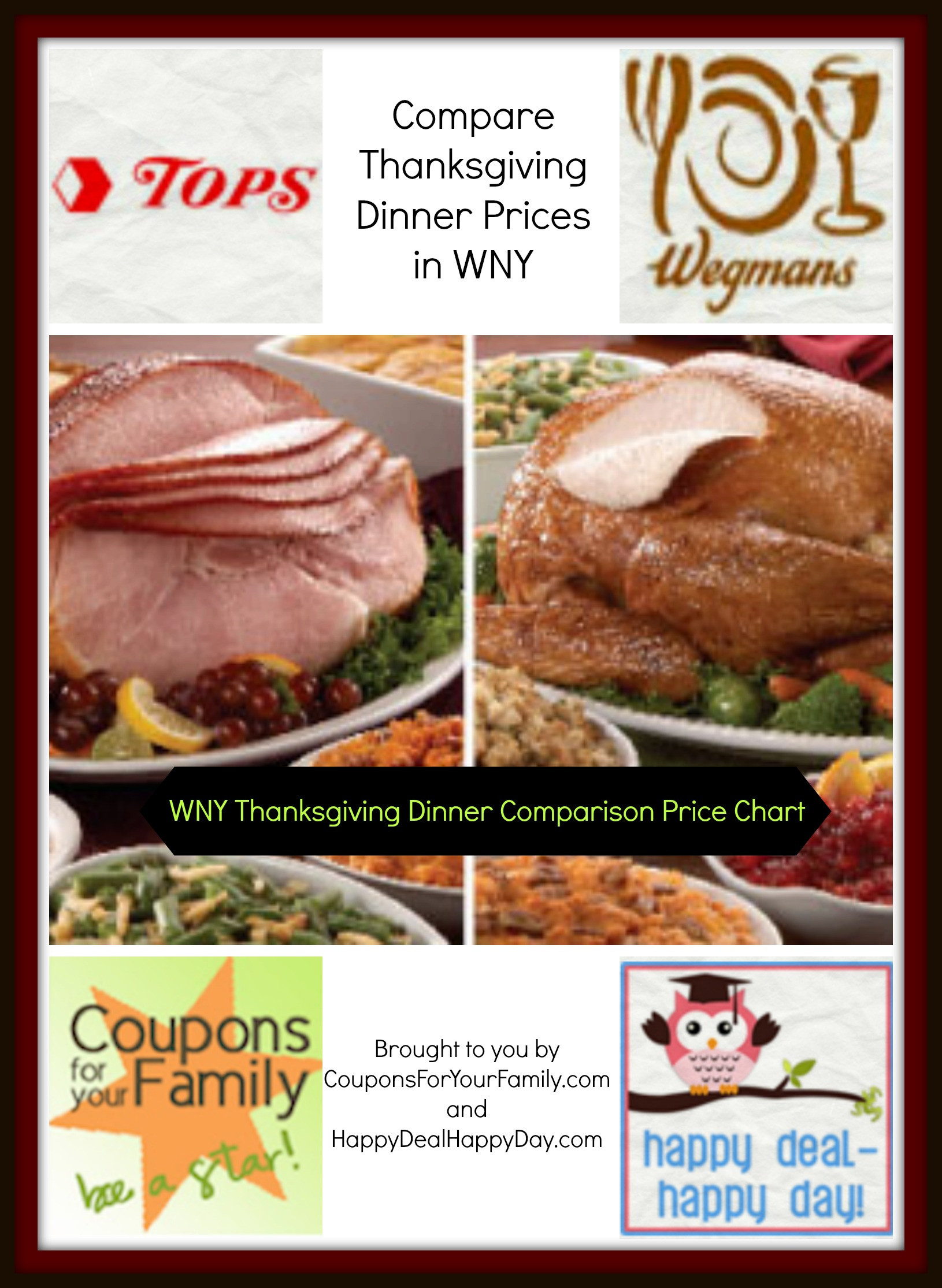 Wegmans Thanksgiving Dinner  Check out our WNY Tops vs Wegmans vs Aldi parison Price