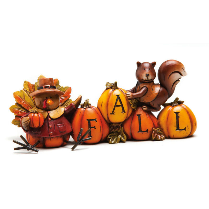 "When Should I Buy My Turkey For Thanksgiving  ""FALL"" FIGURINE THANKSGIVING HARVEST TURKEY & SQUIRREL w"