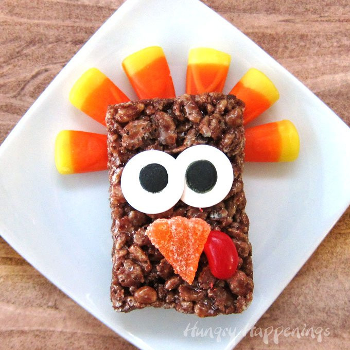When Should I Buy My Turkey For Thanksgiving  Cocoa Krispies Treat Turkeys Easy Thanksgiving Treats