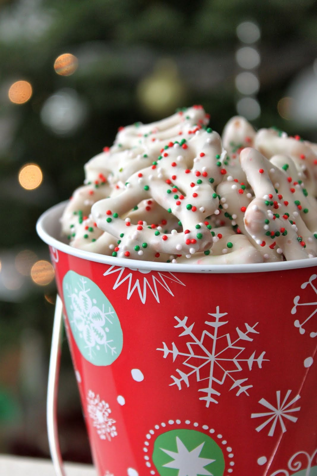 White Christmas Candy  Baked Perfection White Chocolate Christmas Pretzels