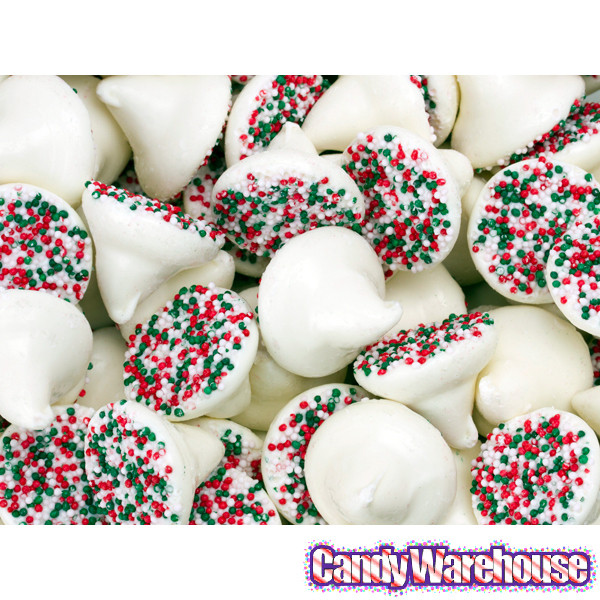 White Christmas Candy  White Mint Chocolate Christmas Nonpareils Candy Drops 5LB
