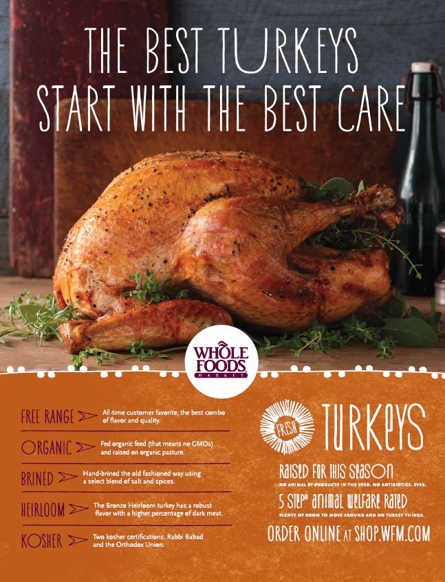 Whole Foods Turkey Thanksgiving  Cut holiday stress AND you may win a free organic turkey