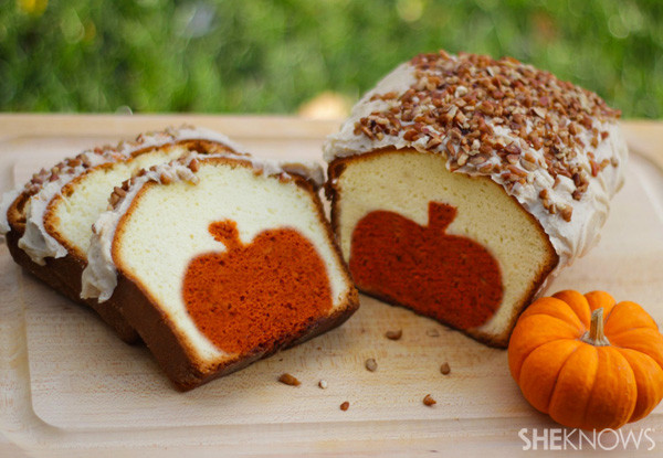Why Did My Pound Cake Fall  Peekaboo pumpkin pound cake