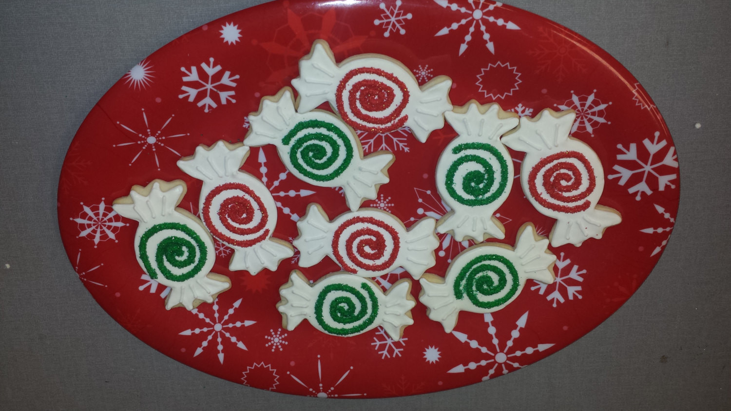 Wrapped Christmas Candy  12 Christmas Candy Sugar Cookies Christmas Wrapped Candy