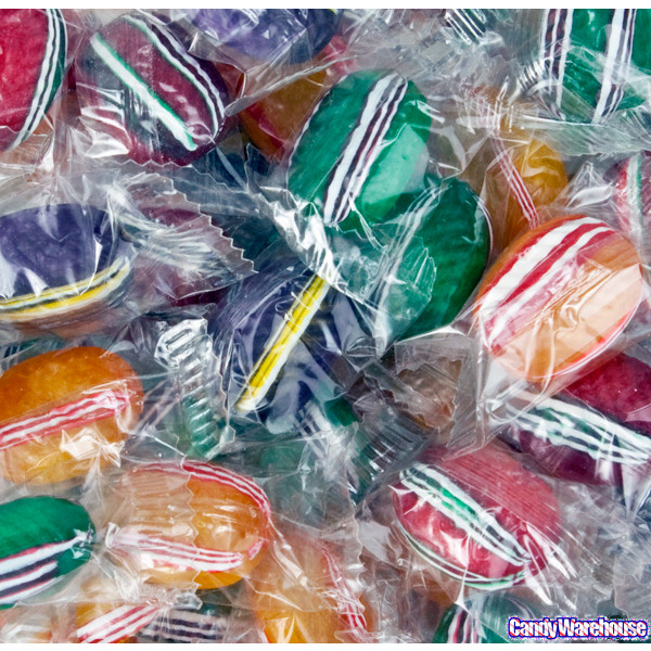 Wrapped Christmas Candy  Fancy Filled Ovals Hard Candy Wrapped 5LB Bag